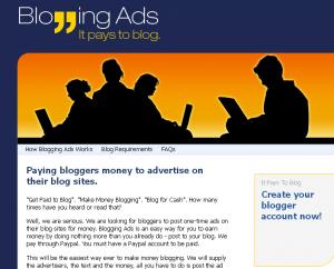 Earn Money Online from Bloggingads