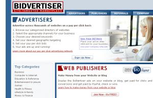 Earn Money Online from bidvertiser